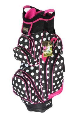 Molhimawk Black & White Polka Dot Ladies Golf Bag with Pink Trim