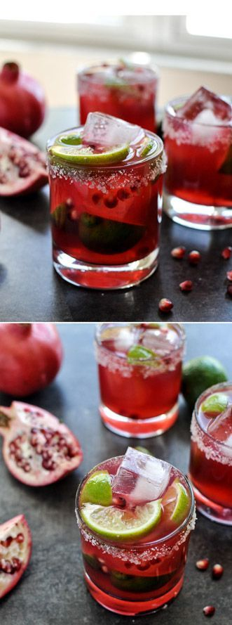 Pomegranate Margaritas #pomegranate #margarita #cocktail