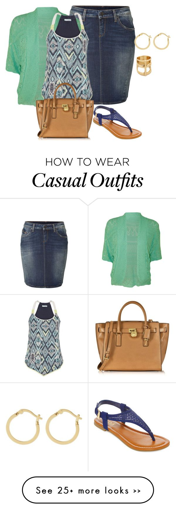 """my plus size denim skirt style look 1/casual office"" by kristie-payne on Polyvore"