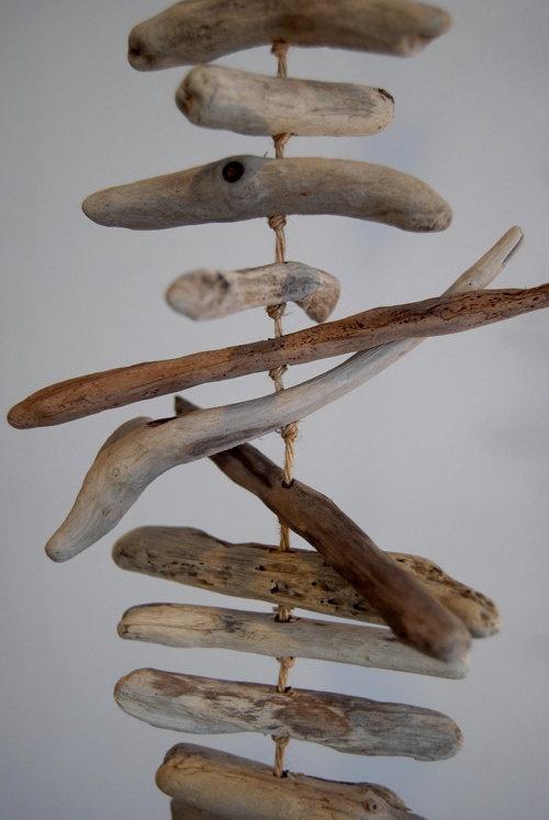 ... ein Mobile aus Treibholz...