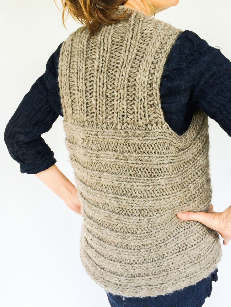 Knitting Pattern Vest Bulky Yarn : 16 best images about Knitterly Patterns on Pinterest ...