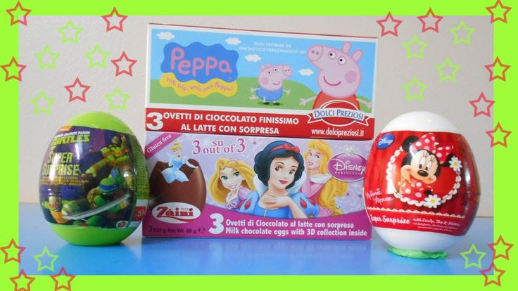 surprise eggs for Disney Princess  Peppa Peg Minnie Mouse Turtles