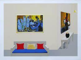 Tribute to Ephraime Ngatane - Sam Nhlengethwa - qagoma, you can see more at: http://archesart.co.uk/Works/viewPrint/MTAxNA==