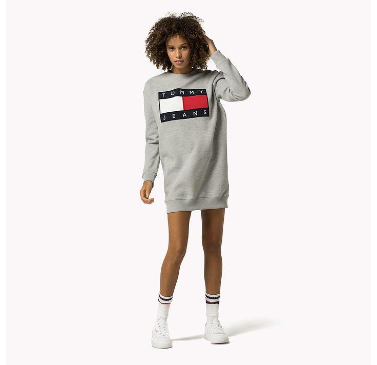 Tommy Hilfiger Sweatshirt Jurk Met Logo - grey marl (Grijs) - Tommy Hilfiger Jurken - hoofdbeeld