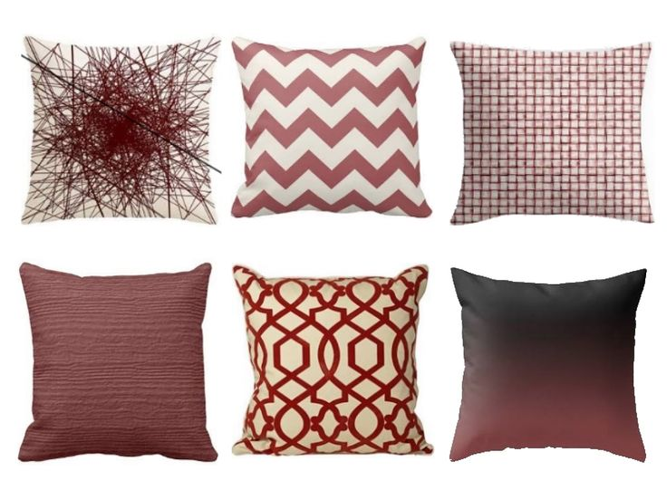 Marsala Pillows | #2015ColoroftheYear | #Marsala | Home decor | SampleHouse