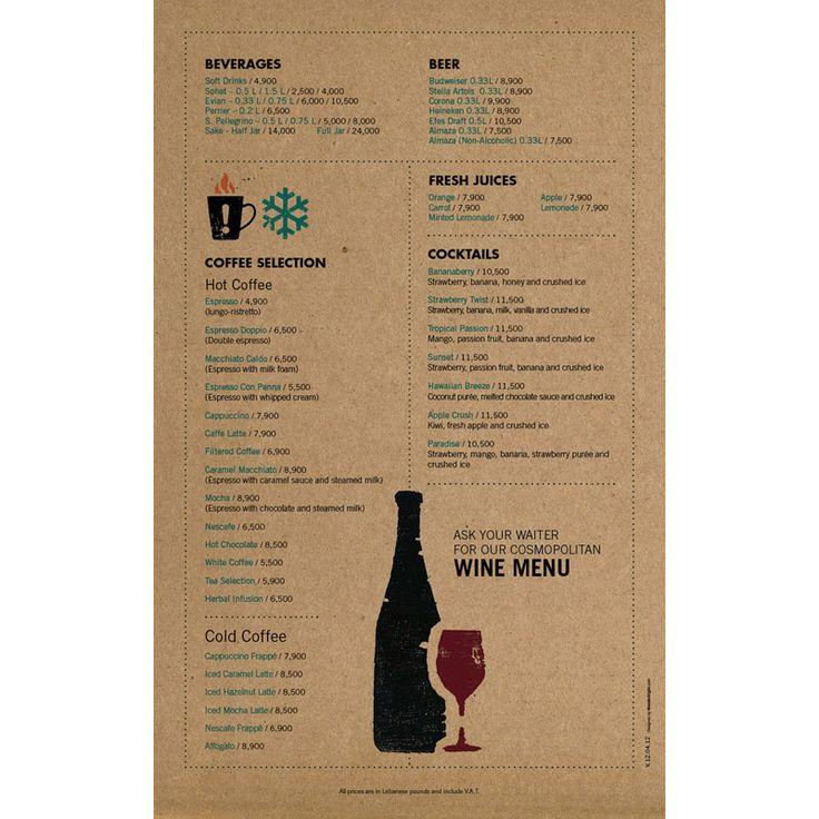 cozmo cafe menu design indesign