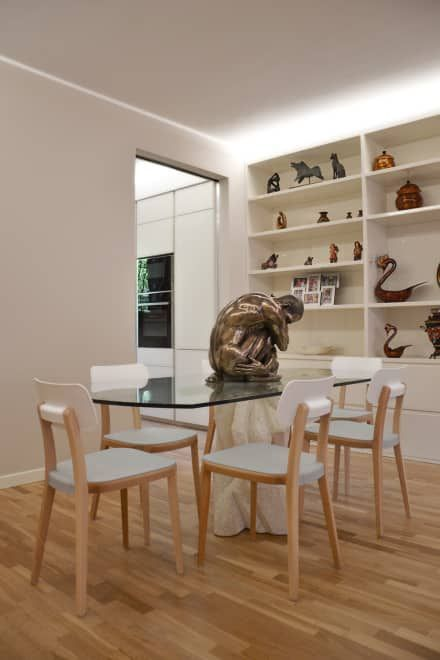 Villa Urbana: Sala da pranzo in stile in stile Moderno di DCA Studio - Davide Carelli Architetto