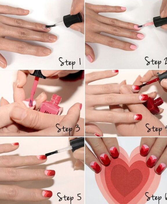 Step by step nail tutorial❤️