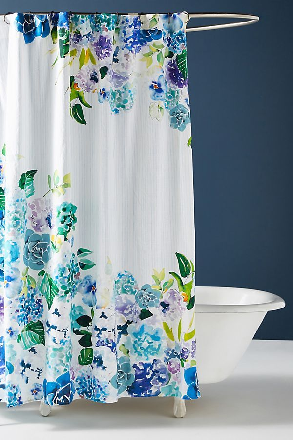 Sarah Hankinson Pansies Shower Curtain With Images Floral