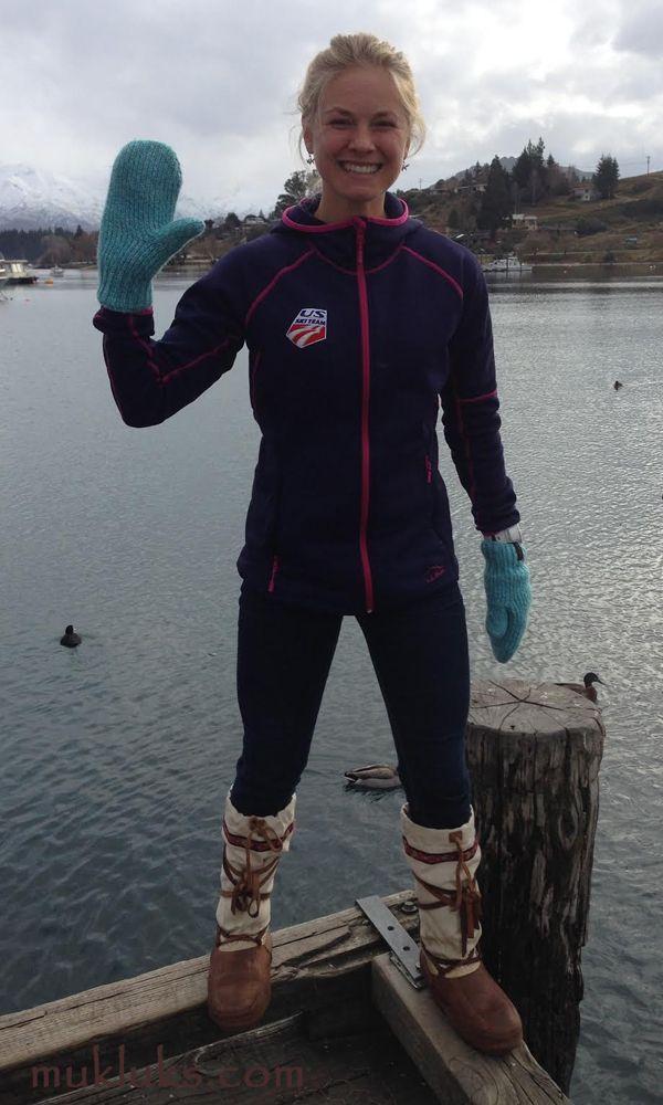 Jessie Diggins US Ski Team wears Arctic style Steger Mukluks! 2015 Winter Training in New Zealand #mukluk #stegermukluks