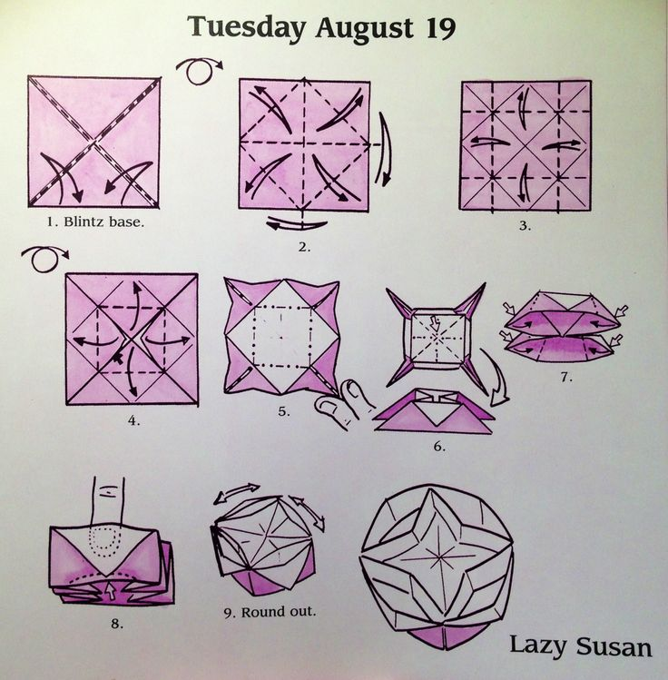 Origami Lazy Susan Diagram Crafts Pinterest