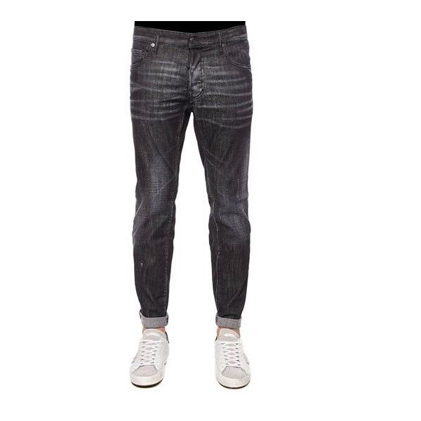 Dsquared2 City Biker Jeans ($447) ❤ liked on Polyvore featuring men's fashion, men's clothing, men's jeans, mens stone wash jeans, men's regular fit jeans, mens stonewash jeans and mens flap pocket jeans