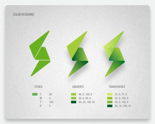 Evolution of a Greenpeace mark by Maria Grønlund / #ci