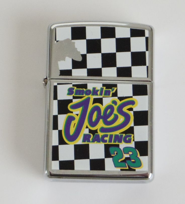 Mint unfired 1997 camel smoken joes racing zippo lighter chrome marked e xiii sealed with sticker see photos