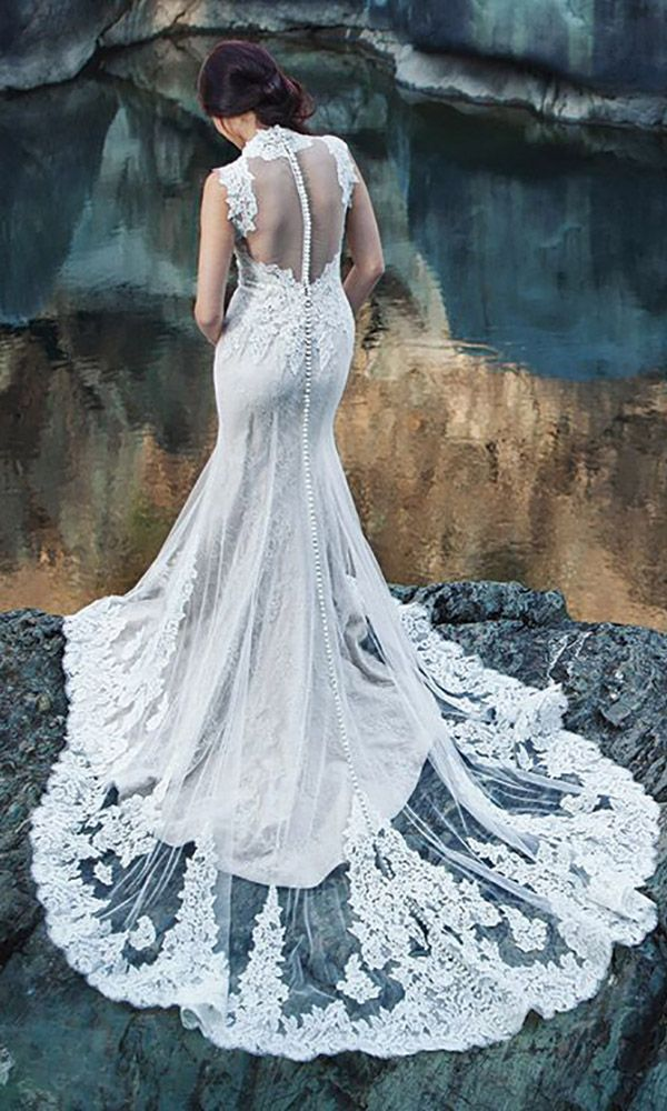 27 Wedding Dresses That Are So Sexy ❤ See more: http://www.weddingforward.com/sexy-wedding-dresses-ideas/ #weddings #dress