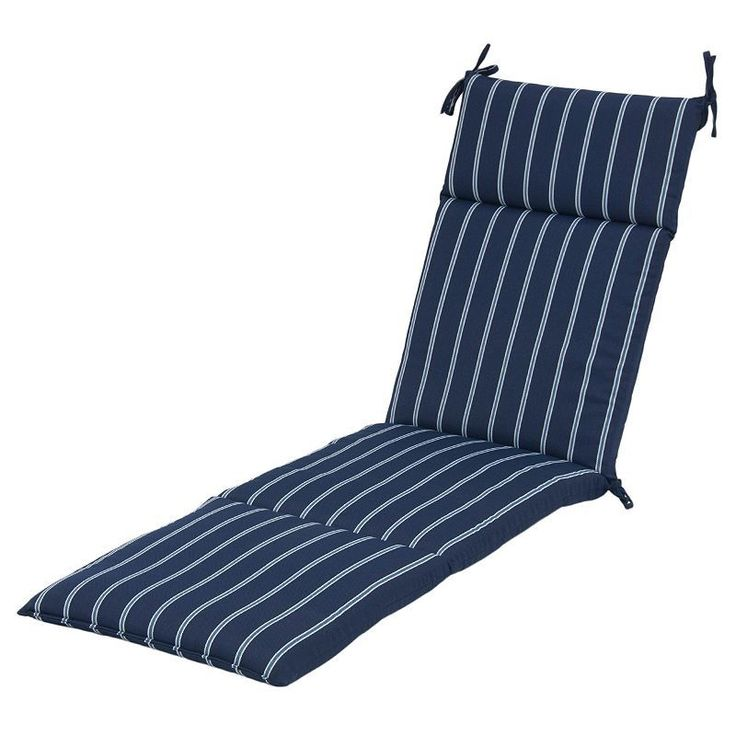 Plantation Patterns Patio Furniture #36: Plantation Patterns Outdoor Chaise Cushion, Blue