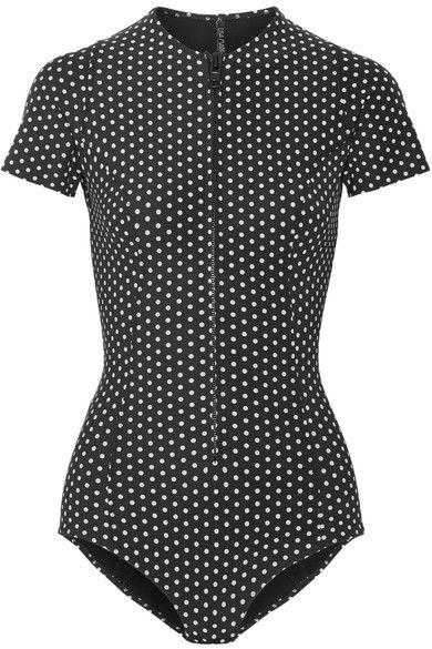 Lisa Marie Fernandez - Farrah Polka-dot Bonded Swimsuit - Black - 2