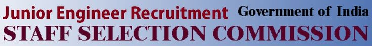 Apply SSC Junior Engineer Recruitment Exam Online Application Form at http://ssctet.in