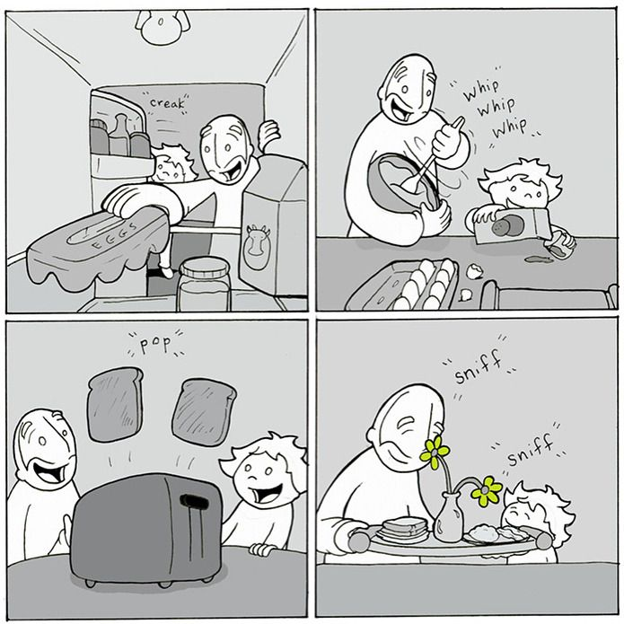 lunarbaboon Comic about breakfast! Support the comic on