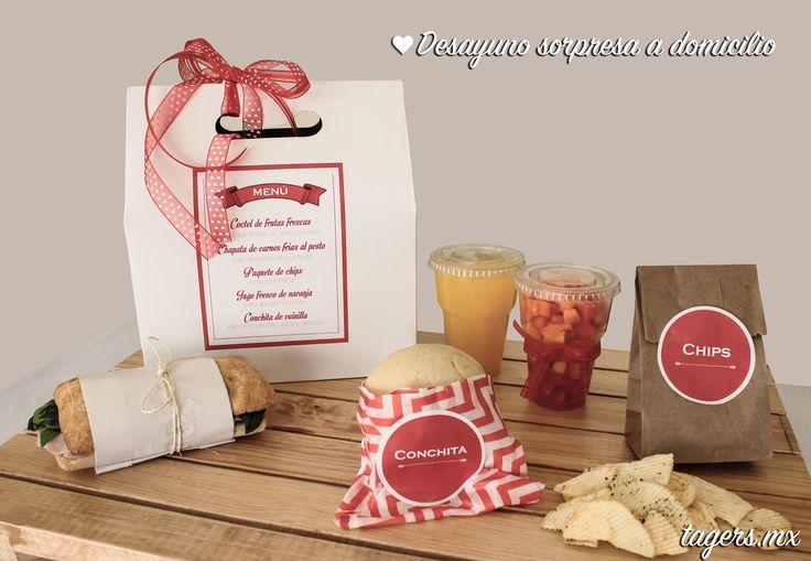 Desayuno sorpresa para 2 a domicilio #valentines #bemyvalentine #lunchbox…