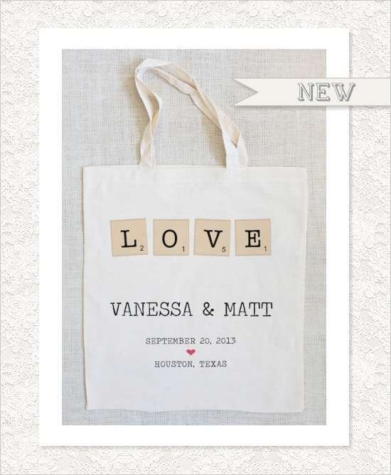 save the date tote for your friends and family. super cute!