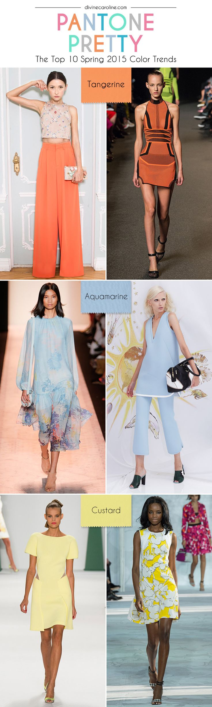 The spring 2015 Pantone color palette is here! Learn how to work the latest color trends into your everyday wardrobe. #Pantone #SpringTrends #ColorTrends