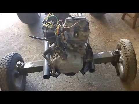 Trator caseiro com motor de moto 125cc, faça você mesmo! Parte 3 - YouTube