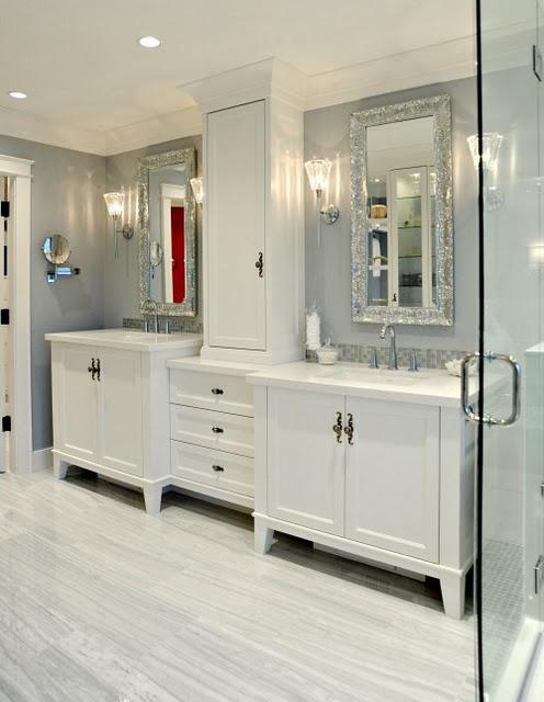 Cabinet configuration+ metallic mirrors