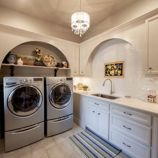 102 best laundry room remodel images on pinterest Basement laundry room remodel
