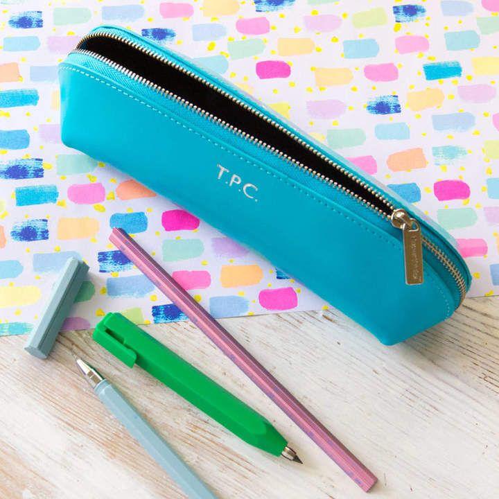 Cute Simple Fruit Transparent Pencil Stationery Pouch Pen Pencil Case, Kiwi carré