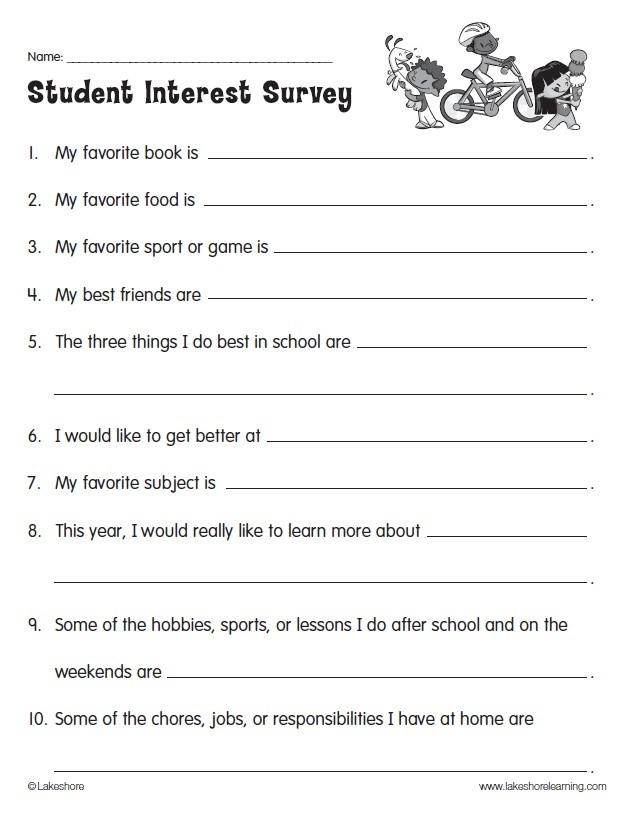 17 best ideas about Reading Interest Survey – Sample Student Survey
