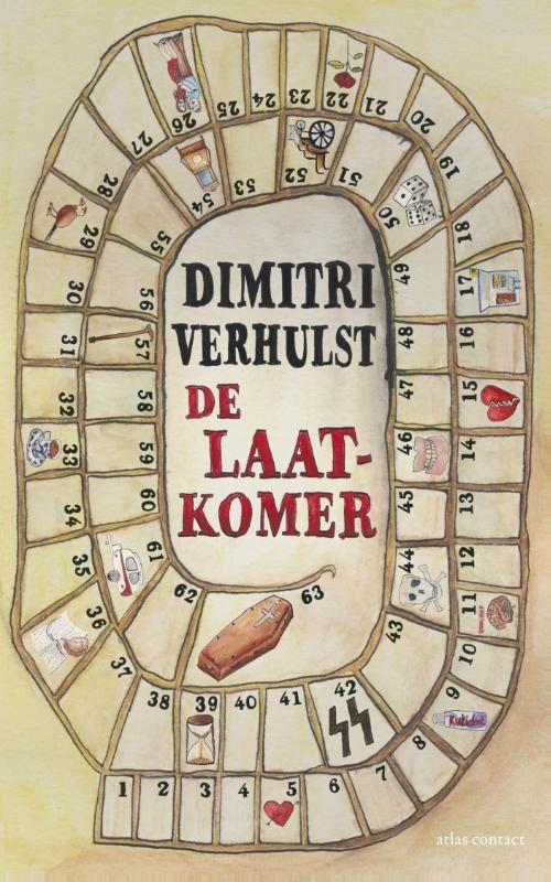 De laatkomer- Dimitri Verhulst. Kort, maar goed. Zwarte humor. September 2013.
