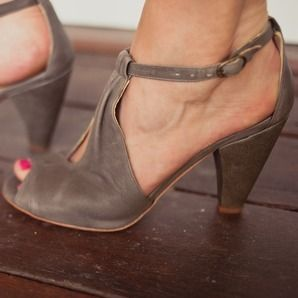 Love these chunky heeled darlings