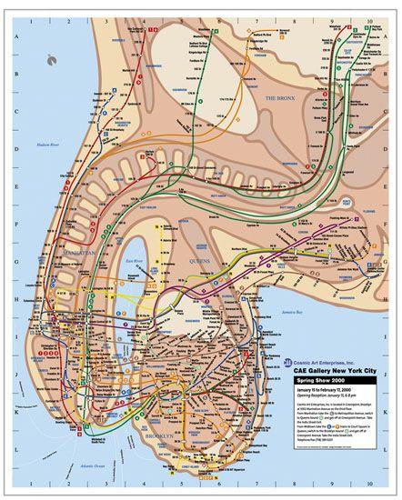 Penis New York Subway Map Veit Schuetz Poster Art For