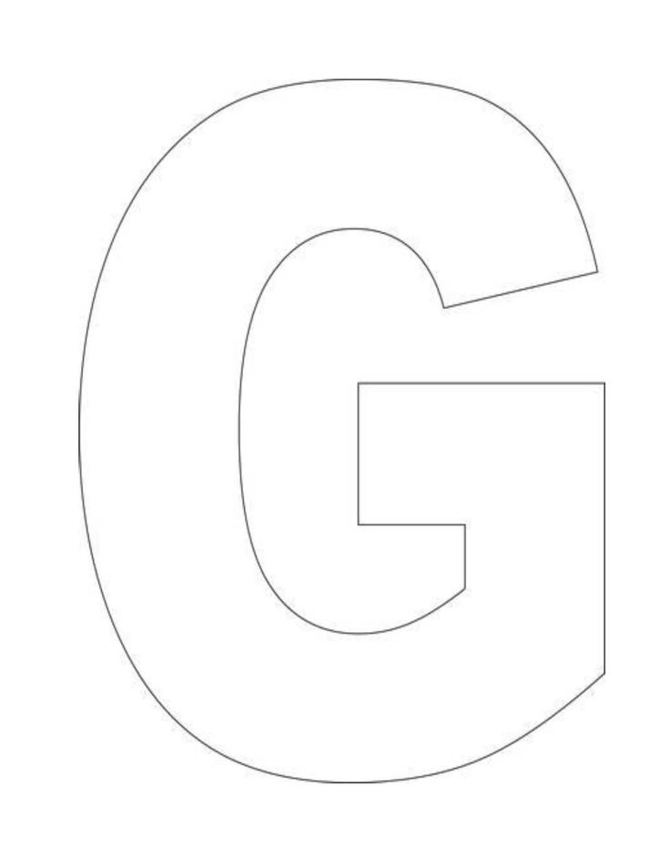 Printable Alphabet Letter G Template! Alphabet Letter G Templates are