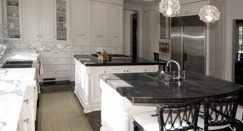 Kitchen  - zinc counters -by Kemp Hall Studio