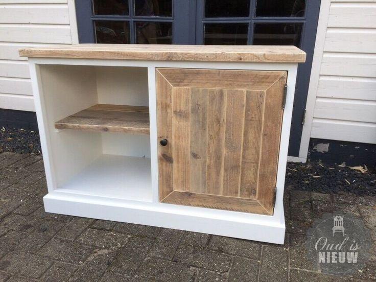 tv meubel landelijk steigerhout