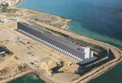 Monaco Breakwater, floating concrete honeycomb structure, Algeciras gaving dock, http://yook3.com , Wilfried Ellmer.