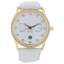@Overstock - This classic timepiece by Dolce and Gabbana features a stainless steel case and leather strap. A white dial, precise quartz movement and a water-resistance level of up to 30 meters finish this fine timepiece.http://www.overstock.com/Jewelry-Watches/Dolce-Gabbana-Womens-Gloria-Watch/6155860/product.html?CID=214117 $178.99