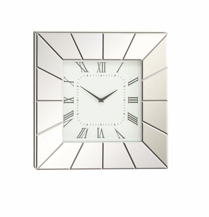 """20"""" Wood and Mirror Wall Clock"""