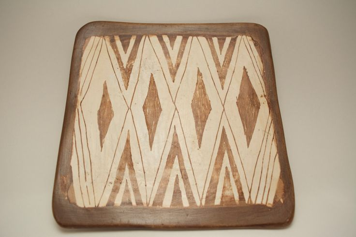 Vintage Handcrafted African Pottery Plate 4 of 5 by ProjectThisAndThat on Etsy