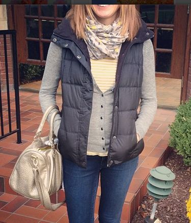 layers + puffy vest