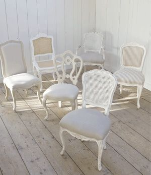 Mix and Match Vintage Chairs for kitchen and dining tables..