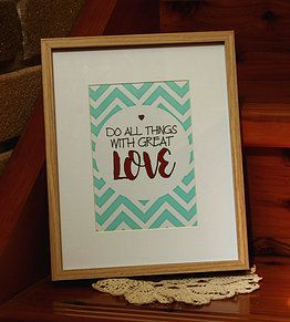 'Great Love' Framed Prints