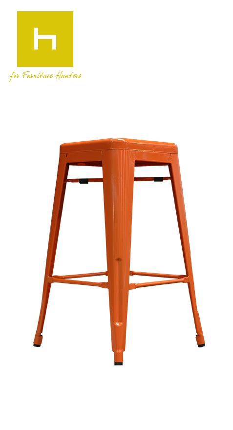 Peru Bar Stools by Hunter Furniture, an uncomplicated bar stool with an industrial style.  Available in a bright orange or sophisticated gunmetal. A simple, sleek and light weight design makes these bar stools easily portable and perfectly suited for moving around different areas to suit your entertaining needs.  #furniturehunters  http://www.furniture.co.nz/our-products/all-products/barstools/rico-barstool/