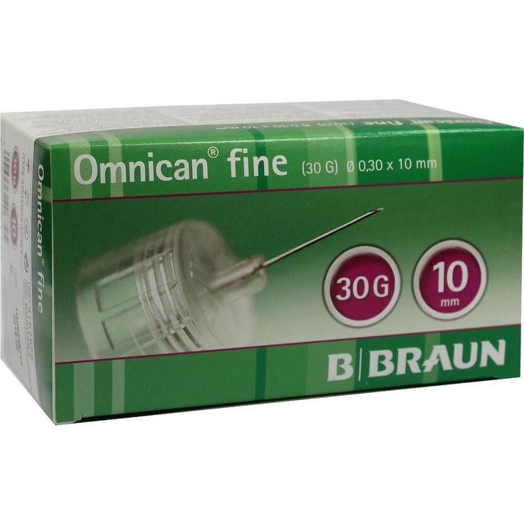 OMNICAN fine Pen Kanüle 30 G 0,30x10 mm:   Packungsinhalt: 100 St Kanüle PZN: 06080282 Hersteller: B. Braun Melsungen AG Preis: 25,66 EUR…