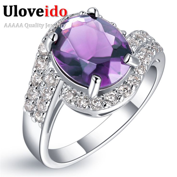 Find More Rings Information about Wholesale Designer Purple Simulated Diamond Jewellery Women Accessories Wedding Rings for Women Silver 925 Bijoux Ulove J334,High Quality gift,China ring gift Suppliers, Cheap ring forever from ULOVE Fashion Jewelry on Aliexpress.com