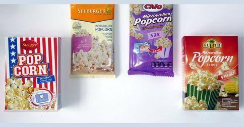 70 Tester für vier Mikrowellen-Popcorn-Sorten