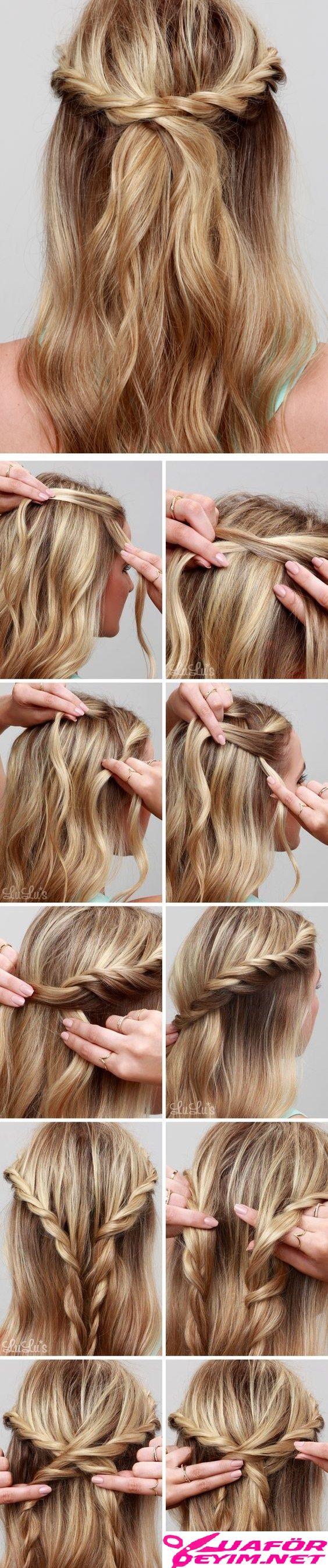 Kolay Saç Örgü Modelleri