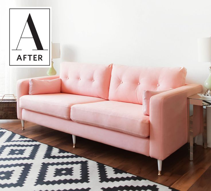 DIY Success: Dyeing an IKEA Sofa a New Color | An IKEA hack? That's millennial pink? All for the low cost of $300? Think of all the extra money she saved for avocado toasts and Netflix subscriptions and other things millennials enjoy! In all seriousness, Krys's project is majorly cool, relatively inexpensive and after a bit of trial and error, pretty easy.